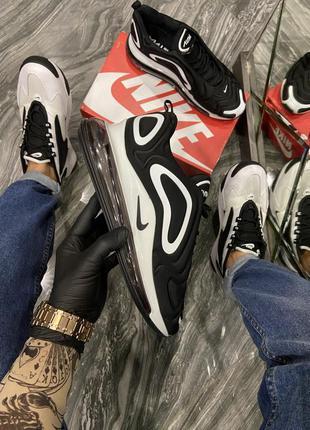 Стильные мужские кроссовки nike air max 720 black white