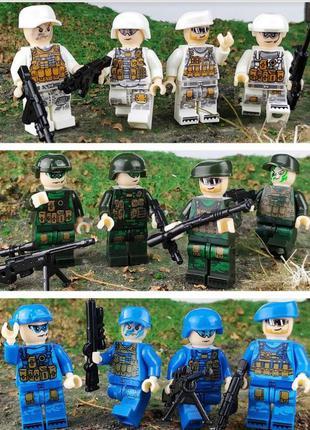 Фигурки, человечки, военные лего, lego аналог