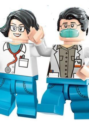 Фигурки, человечки, врачи медики лего, lego аналог
