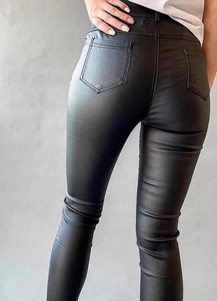 Очень стильные кожаные штаны