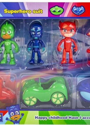 Набор Герои в масках - 3 машины с фигурами героев