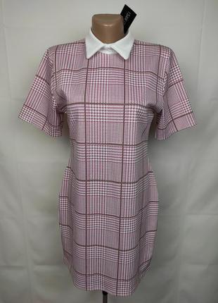 Платье мини трикотажное стильное в гусиную лапку uk 14/42/l