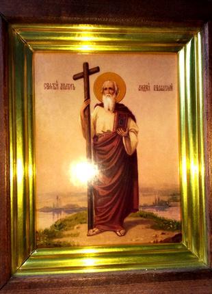 Икона - апостол Андрей Первозванный, идеальное состояние. Киев