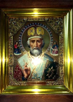 Икона - Николай Чудотворец, идеальное состояние. Киев