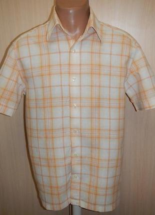 Льняная рубашка тенниска zara man p.l