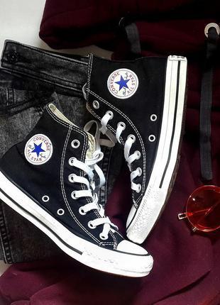 Кеды чёрные высокие converse all star 2