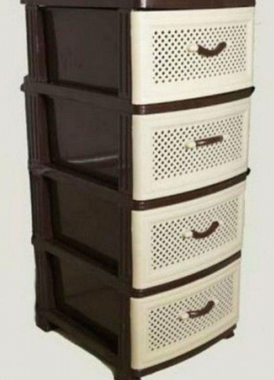 Комод.шкафчик.тумба пластиковый на 4 ящика для вещей.