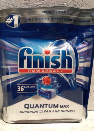 FINISH QUANTUM max 36 шт - капсулы для посудомоечных машин