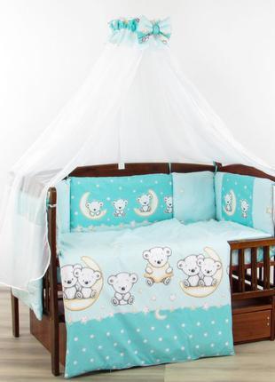 Постельный комплект детский в кровать защита бортики постіль Н...
