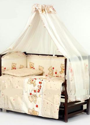 Детский Постельный комплект бортики в кроватку 9 элементов Новые