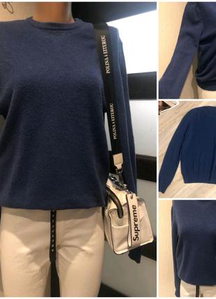 Натуральная шерсть стильный джемпер свитер кофта