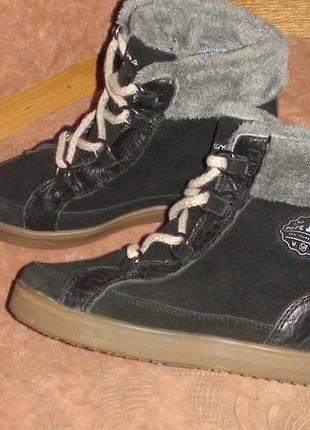 Pepe jeans london - шкіряні черевички. р- 36 (23см)