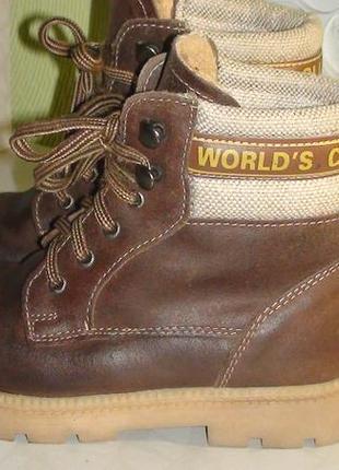 World's club - зимові шкіряні черевички. р- 27 (17.5см)