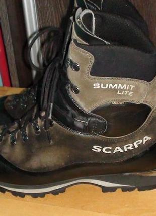 Scarpa summit lite - італійські шкіряні трекінгові черевики. р...