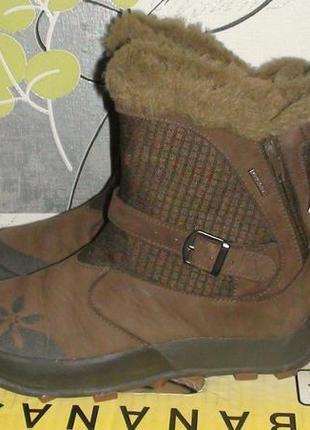 Quechua - шкіряні зимові черевички-чобітки. р- 37 (23.5см)