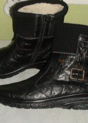 Rieker - зимові шкіряні чобітки. р- 38 (24.5см)