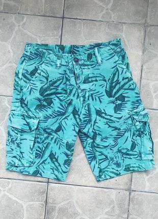 Шорты джинсовые с пальмами