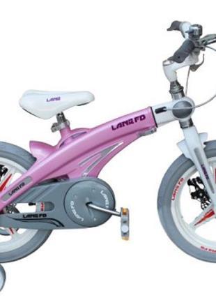 Алюминиевый детский велосипед Lanq 16 дюймов для девочки