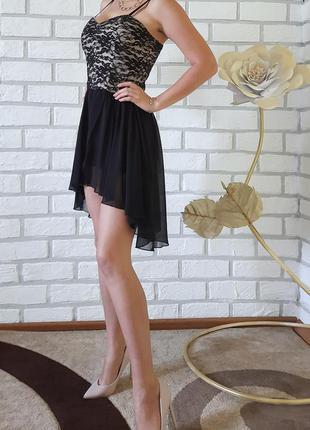 Плаття кружевне вечірнє асиметричне платье вечернее кружевное ...