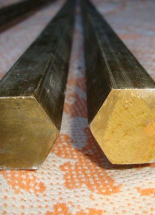 Латунный шестигранник