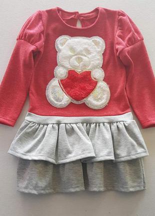 Платье для девочки мишка