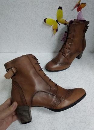 Кожаные ботинки ecco (эко)