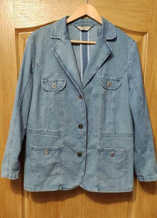 Canda тонкая стрейчевая джинсовая куртка, пиджак, джинсовка