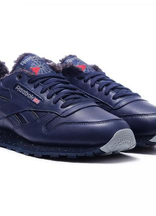 Мужские кроссовки reebok classic leather low sherpa dv5180