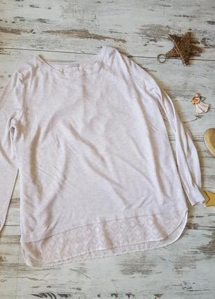 Легкий свитер пудровый