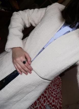 Белое пальто mango