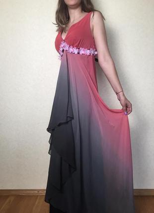 Невероятной красоты шифоновое вечернее платье от scarlet. идеа...