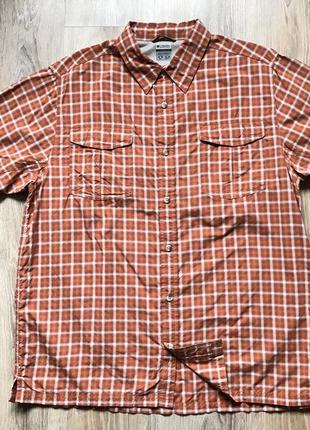 Мужская рубашка с коротким рукавом columbia xl