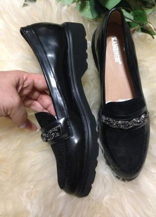 Великолепные туфли лоферы. 37маломерят на размер
