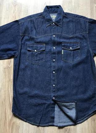 Мужская джинсовая рубашка с коротким рукавом underground m