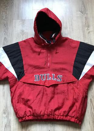 Мужская винтажная куртка анорак starter xl chicago bulls