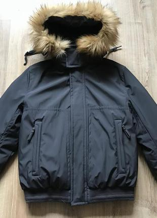 Мужская теплая куртка пуховик marc new york m