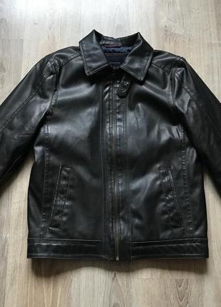 Мужская классическая кожаная куртка tommy hilfiger m