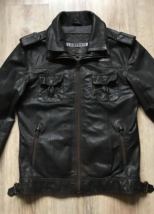 Мужская кожаная куртка superdry l
