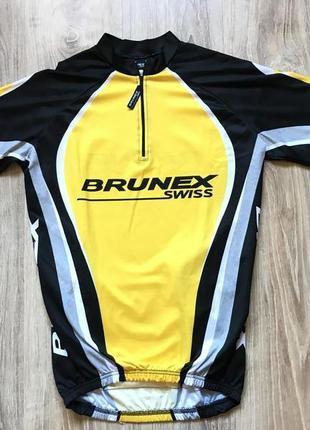 Мужская велоджерси brunex s с коротким рукавом велоодежда