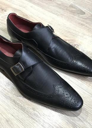 Мужские классические кожаные туфли pierre cardin монки оксфорды