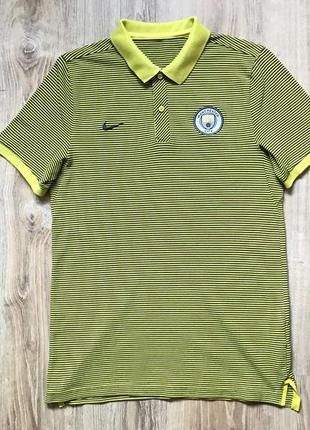 Мужская хлопковая поло футболка nike manchester city