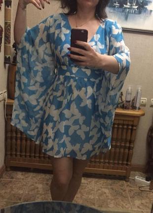 Воздушное платье небесно-голубого цвета от rainbow
