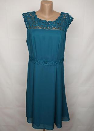 Платье зеленое шикарное marks&spencer ruk 14/42/l