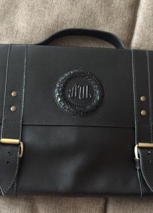 Мужской набор (портфель +кошелек) кожанный (шкіряний гаманець+...