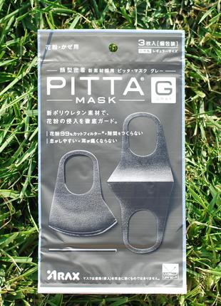 Защитная многоразовая маска питта/pitta. Не медицинская. Оригинал