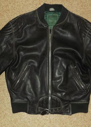 Винтажная кожаная куртка/бомбер aviakit lewis leathers