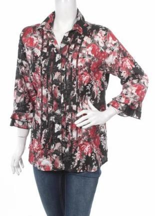 Тонкая хлопковая блузка рубашка большого размера от bexleys
