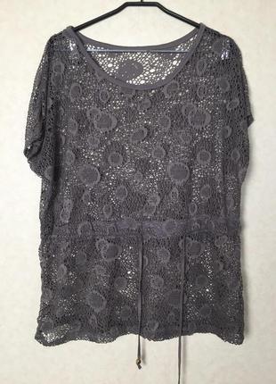 Ажурное пляжное платье - туника