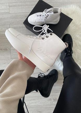 Кроссовки adidas y-3 bashyo ii high top sneakers (white) 🆕 куп...