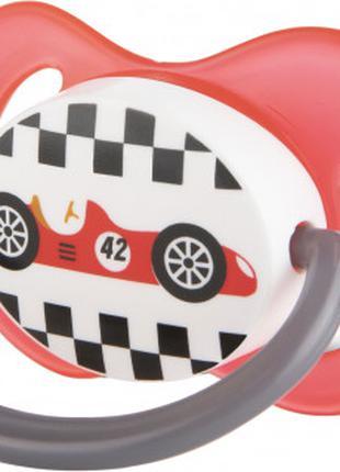 Пустышка симметричная силиконовая 0-6 м Racing - 22/571_red